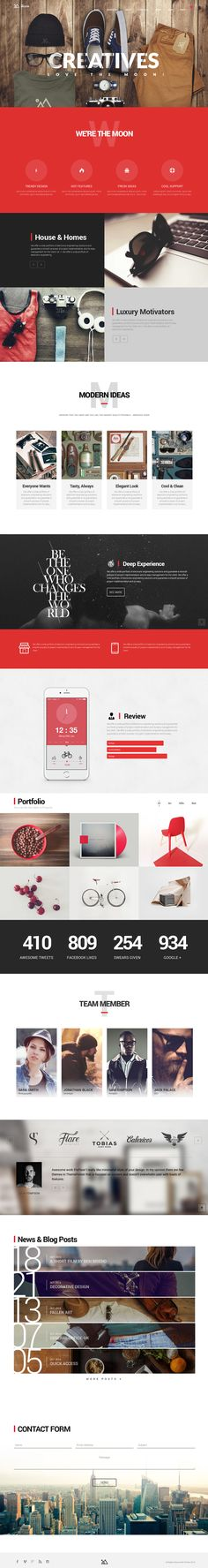 The Moon - Creative One Page Multi-Purpose Theme on Behance