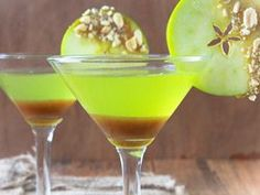 Caramel Apple Martini (with Pinnacle Carmel Apple Vodka) YES PLEASE!