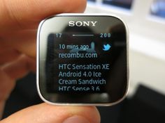 Sony SmartWatch for Android hands-on video Twitter App, Android 4, Smart Watch, Sony, Smartwatch