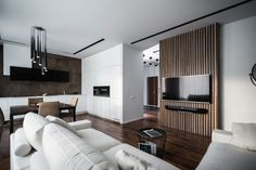 45 Awesome Modern Apartment Living Room Design Ideas - Page 5 of 45 Modern Apartment Design, Interior Modern, Contemporary Apartment, Room Interior, Modern Interiors, Apartment Layout, Cool Apartments, Luxury Apartments, Studio Apartments