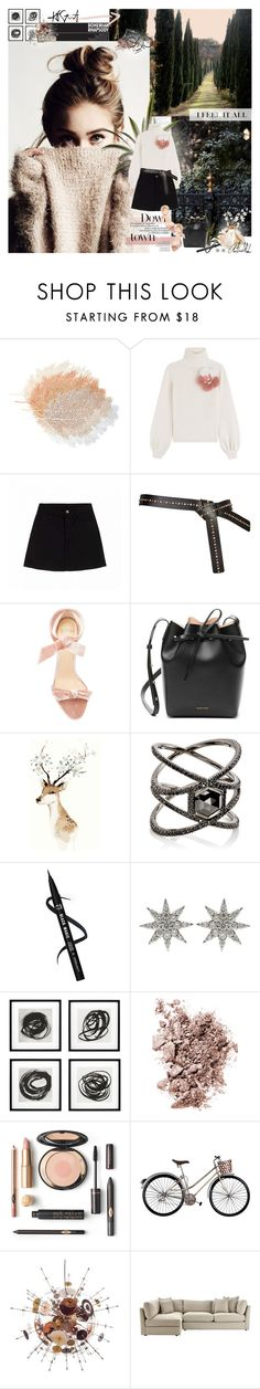 """rhapsody"" by pandacubcake ❤ liked on Polyvore featuring Fendi, Alexandre Birman, Mansur Gavriel, Eva Fehren, Bee Goddess, Eichholtz, Chantecaille, Home Decorators Collection, Winter and Pink"