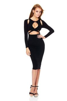 Long Sleeve Hollow Out Black White Cotton Bandage Dress DZY VD8090 Sexy  Summer Dresses ea3580213