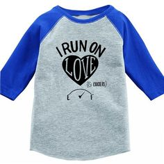 I Run On Love (& Milk) Kids Baseball T-Shirt