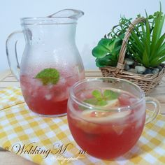 Minty Cranberry with Apple Drink