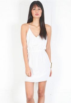 Rory Beca Conrad Dress with Ring Detail in Pillow  $199