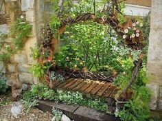12 Shabby Chic & Bohemian Garden Ideas - garden-decor
