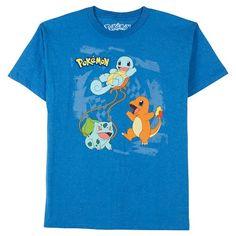 Pokeman Boys' Graphic T-Shirt - Blue