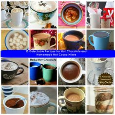 18 Delectable Recipes for Hot Chocolate and Homemade Hot Cocoa Mixes. There is something for everyone in this recipe collection! Yum!