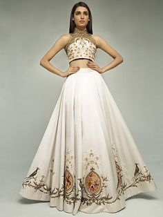 indian fashion Lengha -- Click VISIT link for more details Haute Couture Style, Indian Couture, Couture Fashion, Lehenga Choli Designs, Indian Attire, Indian Ethnic Wear, Indian Wedding Outfits, Indian Outfits, Emo Outfits