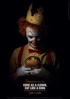 #ScaryClownNight X Burger King Digital Campaign