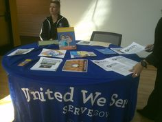Kate Dorsey shares awareness about VISTA and other service opportunities at SLU's Year of Service Fair