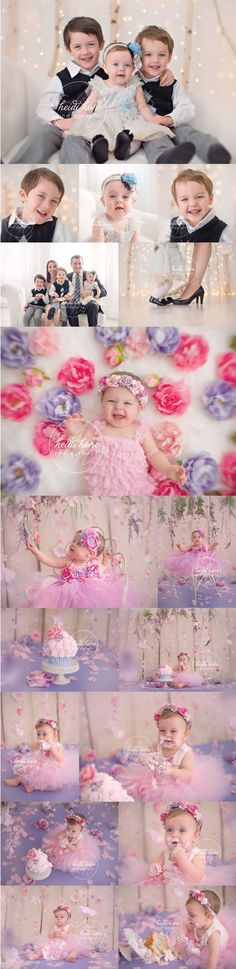 Baby M's Floral Garden First Birthday Cake Smash! | Heidi Hope Photography