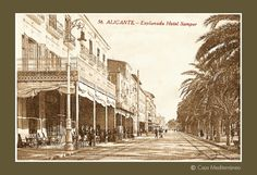 Alicante antiguo, España.Hotel Samper