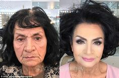 Make up artist shaves decades off his clients' ages On this woman, Mr Agakishiev opted for a lighter, more contoured look to hide her lines complete with a pale pink lip, drawn eyebrows and a volumised hairstyle Beauty Make-up, Beauty Hacks, Hair Beauty, Make Up Looks, How To Draw Eyebrows, Drawn Eyebrows, Pale Pink Lips, Makeup Tips, Hair Makeup
