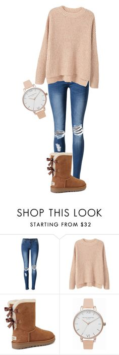 """""""School"""" by sagafranz on Polyvore featuring WithChic, MANGO, UGG and Olivia Burton"""