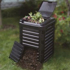 Tierra-Derco 85 Gallon Composter - Put table scraps and garden waste to good use with the Tierra-Derco 85 Gallon Composter . Constructed of 90% recycled materials itself, this composter...
