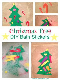 Christmas bath: DIY foam stickers and a lesson in why perfect isn't necessary
