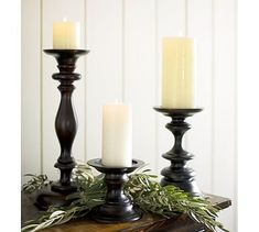candles for mantel from pottery barn