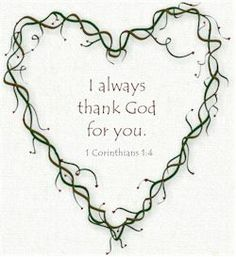 I always thank God for you