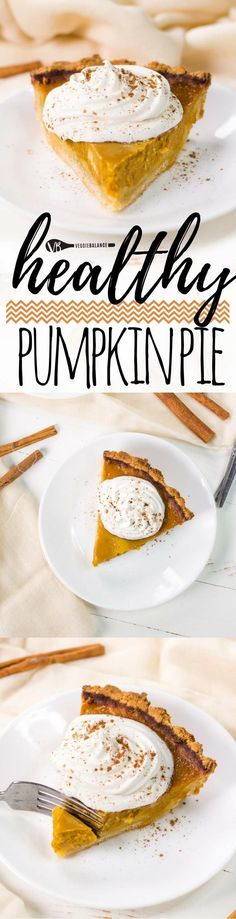 Gluten-free Pumpkin Pie recipe made healthy with just 5-ingredients. this super easy low-sugar pumpkin pie is made with an almond flour crust making it low-carb friendly and a happy tummy. (#Healthy , #LowCarb , #lowsugar , #dairyfree & #vegan  friendly)