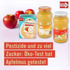 utopia.de🍎Apfelmus enthält oft zu viel Zucker und Pestizide, kritisiert @oekotest.de im neuen Magazin. Die Verbraucher-Experten haben zahlreiche Produkte getestet: Viele sind empfehlenswert, aber ein Apfelmus war so stark mit Pestiziden belastet, dass es vom Markt genommen wurde ⚠️