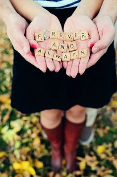 Forever & always ♥great proposal idea