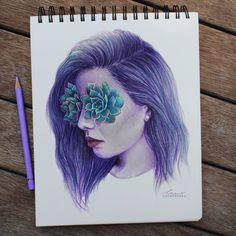 Kuru Boya ve Ellerini Kullanarak Harika Resimler Yapan Genç Sanatçı: 'Chloe O'Shea' Sanatlı Bi Blog 2