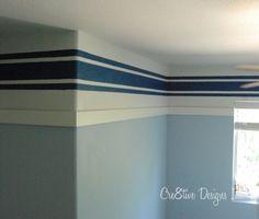 Stripes In Boys Room Boys Bedroom Paintmaster