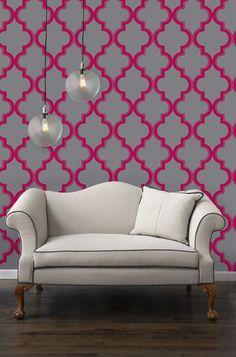 hot pink and gray interior design, wedding reception decor, modern wedding, seating