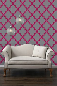 hot pink and gray interior design, wedding reception decor, modern wedding, seating