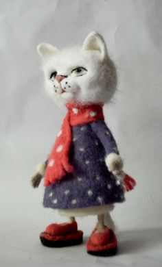 Items similar to Kitten in a dress Needle felted cat, Art Dolls, Interior doll , Gift For Her needle felted.READY TO SHIP on Etsy Needle Felted Cat, Felt Cat, Cute Toys, Etsy Handmade, Cat Art, Art Dolls, Cats And Kittens, Gifts For Her, Christmas Gifts