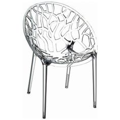 Crystal Polycarbonate Accent Chair Clear ISP052-TCL