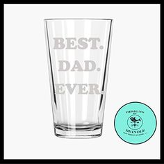 Best Dad Ever Etched Pint Glass  gift for dad *** Check out the image by visiting the link.