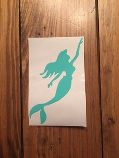 The Little Mermaid Sihouette Decal by MonogramQueenNC on Etsy