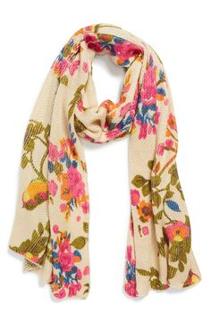 Adding this lovely scarf for that pop of color.