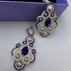 Macrame Earrings Tutorial, Soutache Tutorial, Earring Tutorial, Beaded Earrings, Bead Embroidery Jewelry, Fabric Jewelry, Boho Jewelry, Jewelry Sets, Jewelry Making