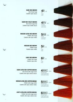 New Lanza Color Swatch Chart Imgur Beauty Pinterest