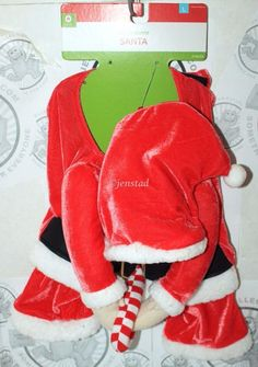 DOG SANTA HAT & COLLAR CHRISTMAS HOLIDAY PET APPAREL L COSTUME OUTFIT LARGE NEW #Unbranded