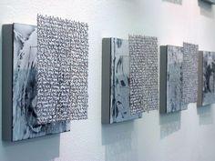 "Jessica Turrell ""rememberings"" detail, vitreous enamel on copper, 2007 Vitreous Enamel, 3d Studio, Exhibition Display, Sculpture Art, Textile Sculpture, Word Art, Installation Art, Textures Patterns, Textile Art"