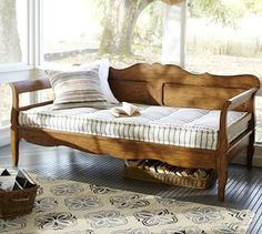 Darby Daybed #potterybarn - here's the bench for the bay window seating at the dining table and I hope that cushion