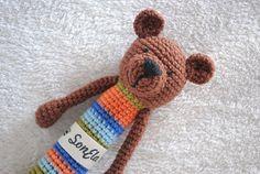 Crocheted Bear Rattle Gehäkelte Rassel Bär