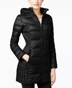 32 Degrees | Black Packable Down Hooded Puffer Coat, Only At Macy's | Lyst