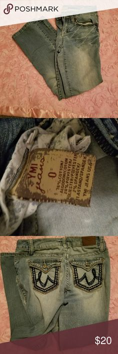 Ymi jeans Like new wore one time very cute pockets on back size 0 YMI Jeans