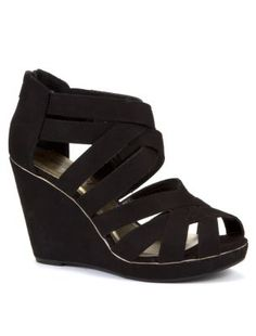 Discover the latest trends with New Look's range of women's, men's and teen fashion. Black Strappy Wedges, Teen Fashion, Fashion Outfits, Shoe Gallery, New Look, Latest Trends, Fitness, Clothes, Shoes