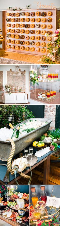"""More than ever we're seeing couples come to us with a really strong vision of what they want for their day and in particular, wanting to create a catering display that wows their guests. The Champagne & Oyster Bar is simply stunning – a treat for the eyes as much as the palette. Similarly the Doughnut Deli, a sugary wall of joy, is a popular choice for late night munchies,"" reveals Alex Clarke, the owner of The George in Rye."