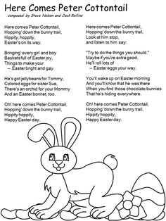 Lyrics for Here comes Peter Cottontail