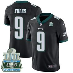 c6d38fbed9a Nike Eagles #9 Nick Foles Black Alternate Super Bowl LII Champions Men's  Stitched NFL Vapor. Eagles FansEagles JerseyPhiladelphia Eagles  ApparelEagles ...
