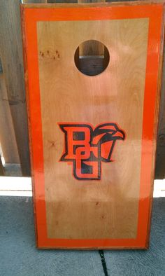 Matching custom B G Cornhole Board