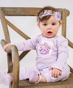 Loving this Very Violet Crochet Posies Playsuit & Headband on #zulily! #zulilyfinds