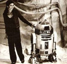 carrie fisher and r2d2 #starwars #leia #r2d2 #fisher